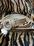 KILLER 50s ROCKABILLY LEATHER BELT- SIZE 90 -AMAZING DESIGN - TOP QUALITY - VLV-